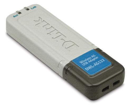 D-link dwl-ag132 wireless 108ag adapter ieee 802. 11a/b/g usb 2. 0.